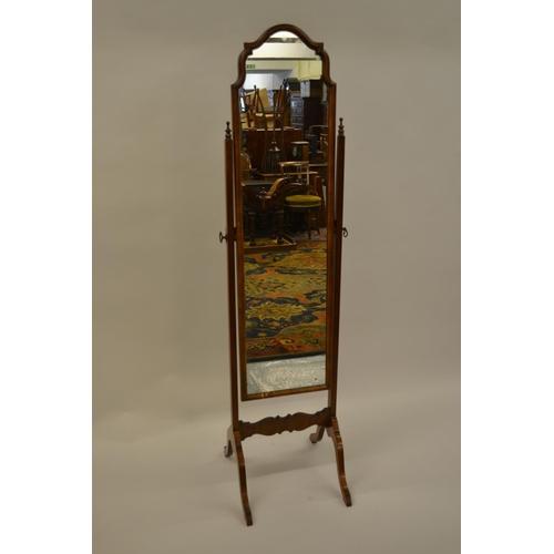 1663 - 1930's Walnut cheval mirror...