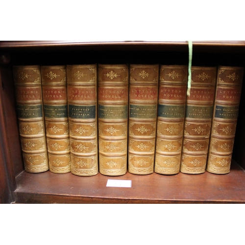 327 - Four volumes ' Principles of Geology ', Twelfth Edition 1875, leather bound, together with eight vol...