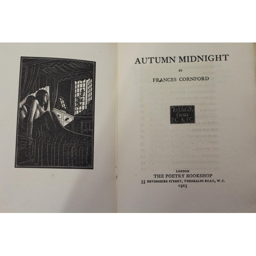 328 - Frances Cornford, a pamphlet volume ' Autumn Midnight ', published by the Poetry Bookshop, London, 1...
