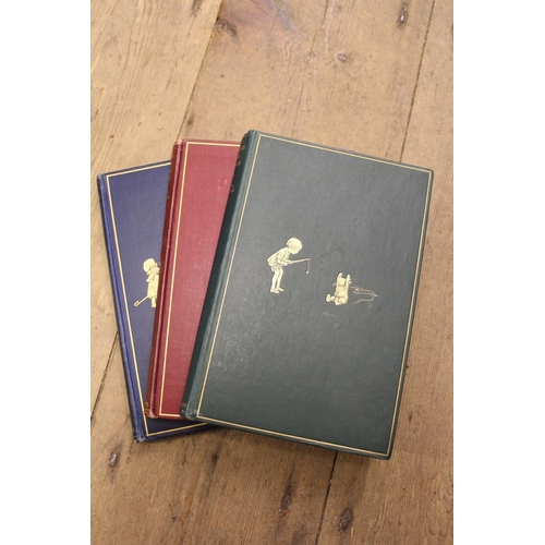329 - One volume ' Winnie the Pooh ', Fifth Edition 1927, one volume ' When We Were Very Young ' Fifth Edi...