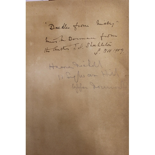 342 - E.H. Shackleton, ' The Heart of the Antarctic ', Volume I, signed presentation inscription to the in...