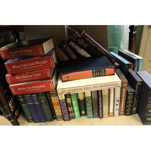 344 - Quantity of Folio Society books, most in the original slip cases, together with a small quantity of ...