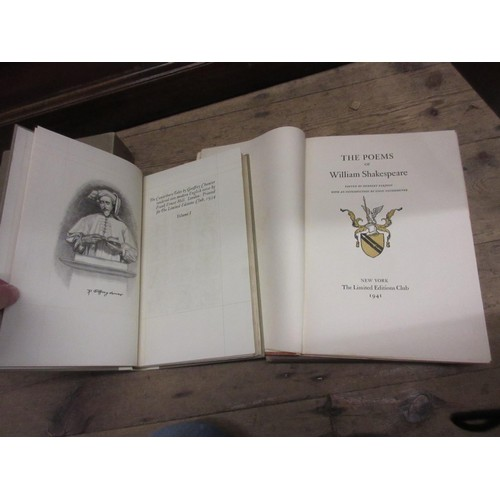 337 - Two volumes ' The Poems of William Shakespeare ' published by the Limited Editions Club, New York, 1...