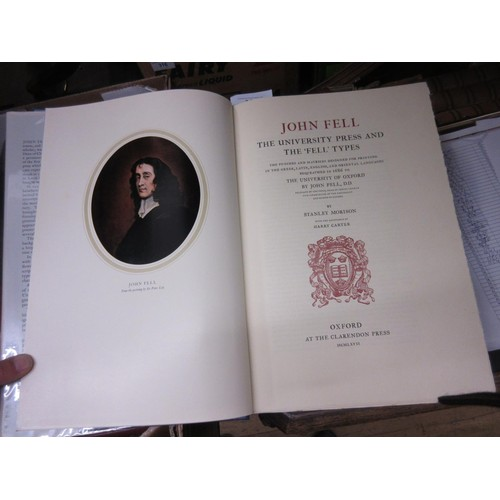 340 - One volume ' John Fell ' the University Press and ' The Fell ', types by Stanley Morison published O...