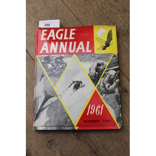 298 - Eagle annual, Volumes II to X, together with one volume, ' Eagle Book of Sport '...