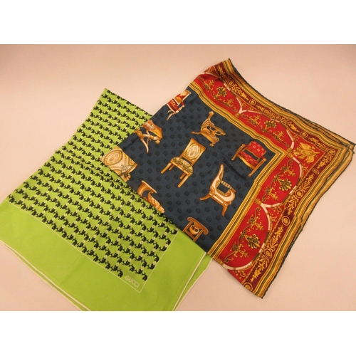 38 - Two Gucci ladies silk scarves...