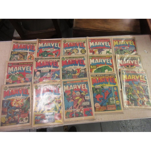 45 - Collection of U.K. issue Marvel comics including No. 3, 1972, together with three 1973 Avengers comi...