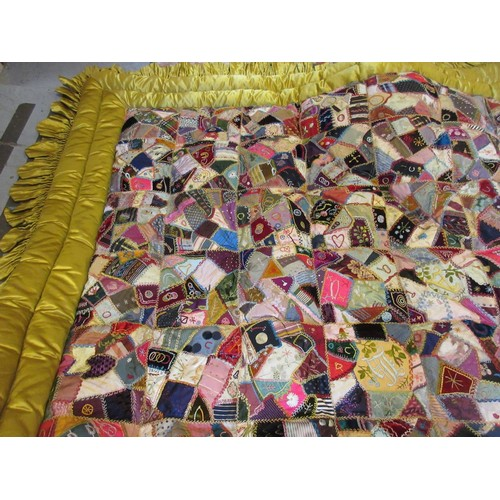 25 - Mid to late 20th Century patchwork quilt...