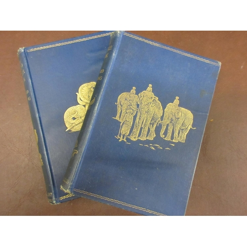 376 - One volume ' The Jungle Book ', re-print 1895 in blue cloth, together with ' The Second Jungle Book ...