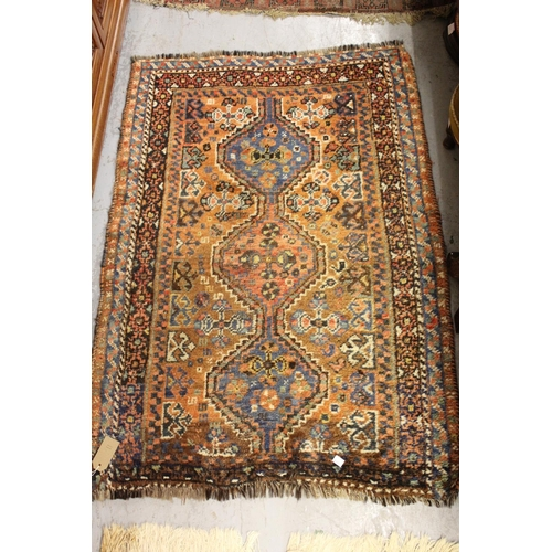 11 - Small Hamadan rug and a small Shiraz rug...