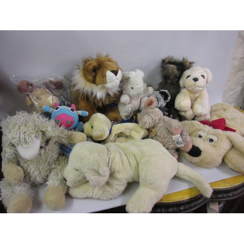 121 - Large box containing a collection of soft toys including Charlie Bears etc....