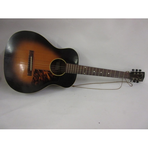 126 - Mid 20th Century Kalamazoo acoustic guitar in a fitted case...