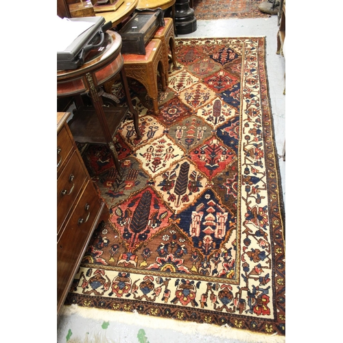 13 - 20th Century Bakhtiari garden panel design carpet with borders, 118ins x 63ins approximately...