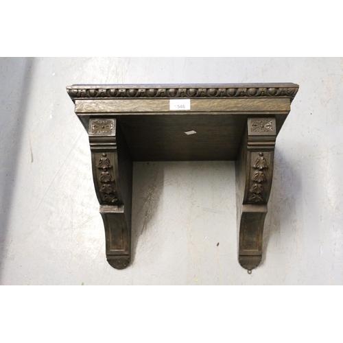 1546 - Late Victorian oak clock bracket...
