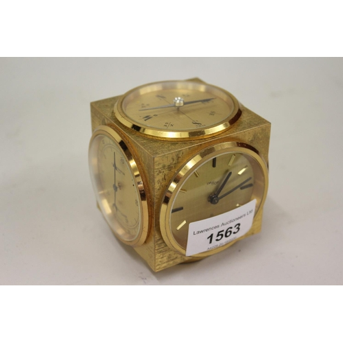 1563 - Small gilt brass cased mantel timepiece by Imhof...