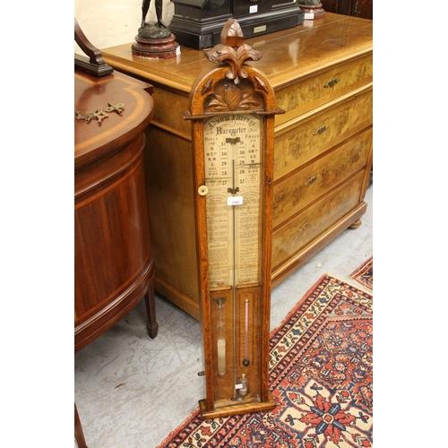 1580 - Victorian oak Admiral Fitzroy barometer...