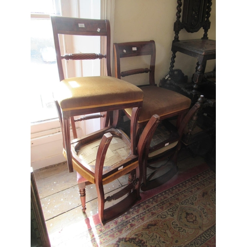 1635 - Group of six various Regency mahogany side chairs...