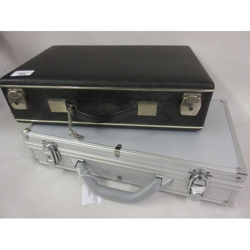 164 - Two modern coin collectors attache cases...
