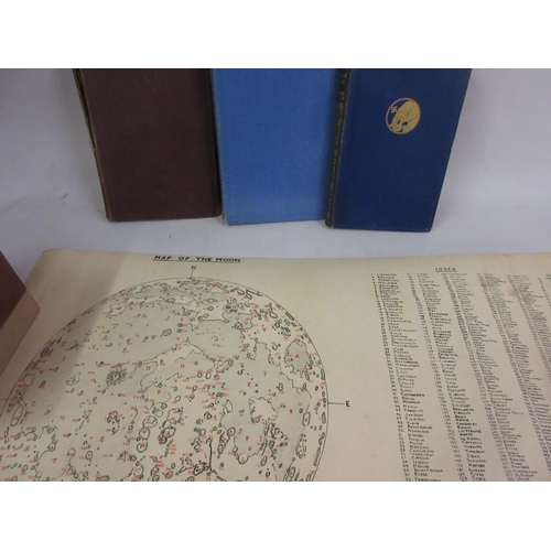 170 - University of London printed map of the moon, ' Celestial Objects for Common Telescopes ' by Webb, c...