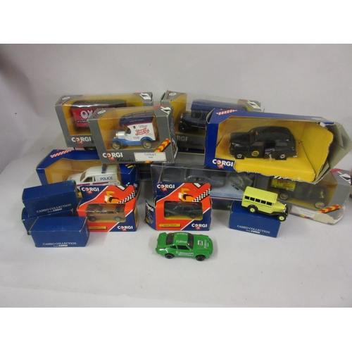201 - Box containing a quantity of mainly Corgi diecast model vehicles etc....