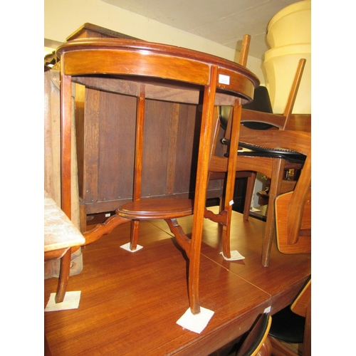 2068 - Edwardian oval mahogany and line inlaid two tier occasional table...