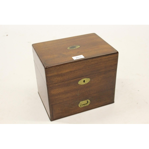 2079 - George III mahogany apothecary's cabinet with part fitted interior...