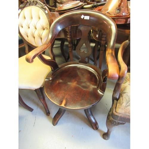2086 - Early 20th Century oak swivel office chair...