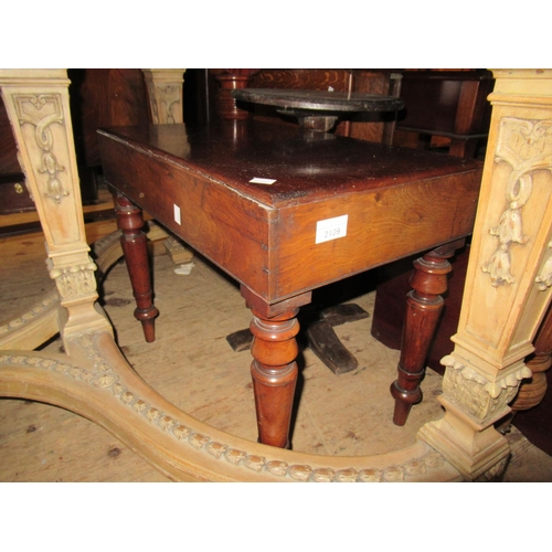 2109 - 19th Century rectangular mahogany bidet together with two footstools...