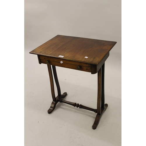 2118 - Small Regency rosewood and mahogany work table...