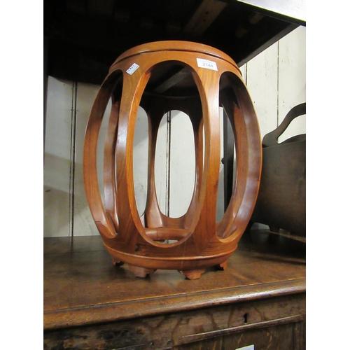 2144 - 20th Century Far Eastern hardwood lamp table / stool...