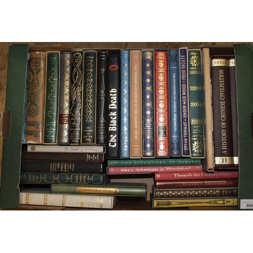 399 - Small collection of approximately thirty Folio Society books in slip cases...