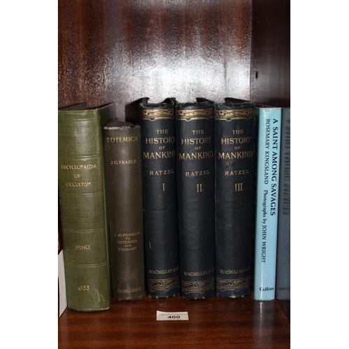 400 - Three volumes, ' The History of Mankind ' by Professor Friedrich Ratzel, contains over thirty colour...