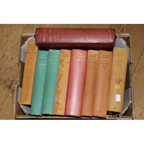 405 - Seven volumes of war time Naval intelligence geographical reference books with one volume, ' Andree ...