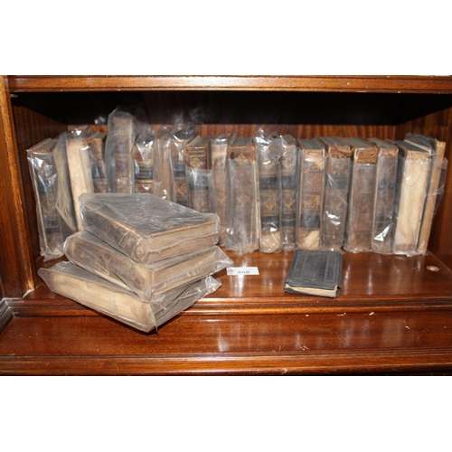 408 - Twenty miniature leather bound volumes, ' The Works of Shakespeare ' 1788 together with an 18th Cent...