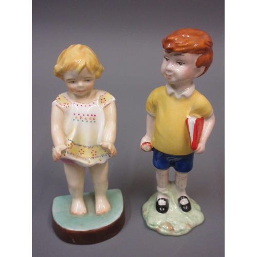419 - Royal Worcester figure ' Dutch Girl ', modelled by F. Gertner, together with a Royal Worcester figur...