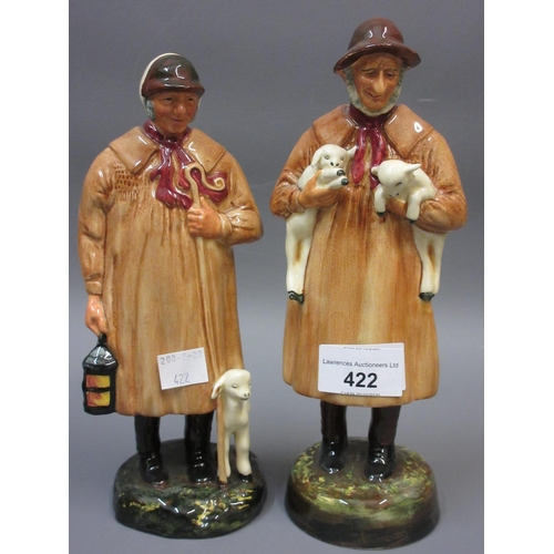 422 - Royal Doulton figure ' Lambing Time ' HN1890, together with another ' The Shepherd ' HN1975, another...