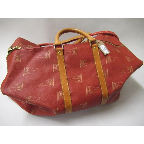 48 - Louis Vuitton, special edition America's Cup holdall with original carrying strap, circa 1995...