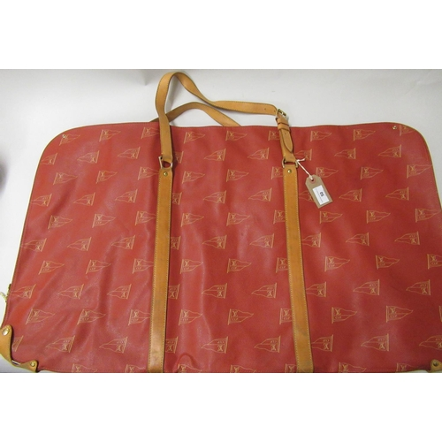 50 - Louis Vuitton Red Edition America's Cup suit carrier, circa 1995...