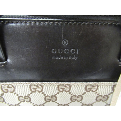 58 - Gucci Monogram briefcase / tote bag with original dust bag...