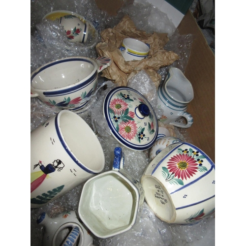 587 - Approximately twenty items of 20th Century Quimper pottery