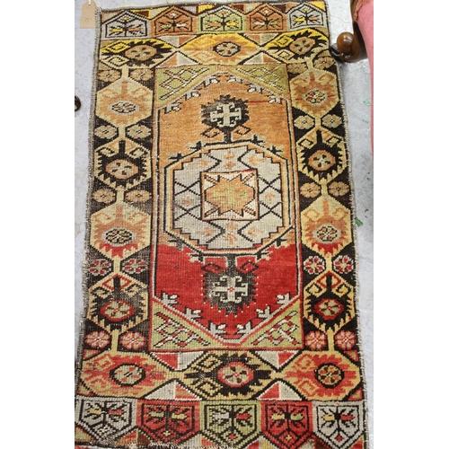 6 - Small Hamadan rug and a small Kurdish rug...
