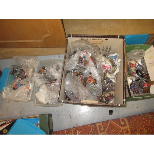 73 - Large quantity of Del Prado diecast metal mounted military figures...