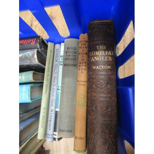 410 - Box containing approximately forty volumes of angling related books etc....