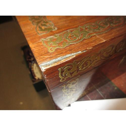2073 - Regency rosewood brass inlaid work box...