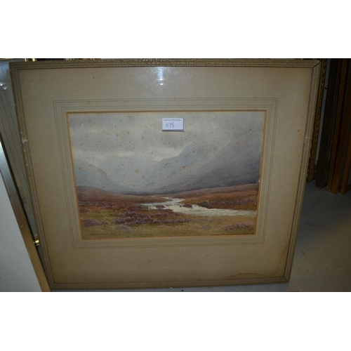 1178 - George Drummond Fish, pair of watercolours, Irish landscapes at Killery and Leenane, signed, 9.5ins ...