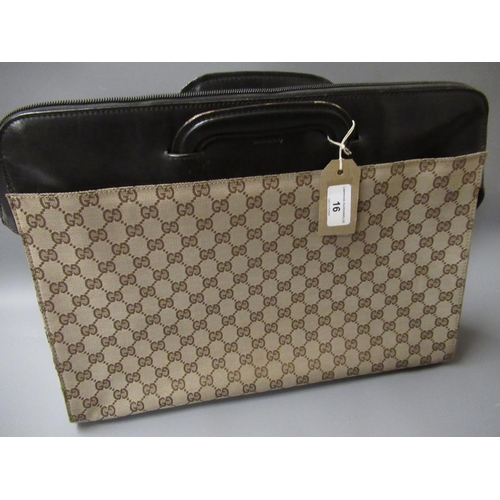 16 - Gucci Monogram briefcase / tote bag with original dust bag...
