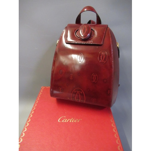 59 - Cartier semi-rigid backpack from the ' Happy Birthday Collection ', 2000, Limited Edition, with auth...