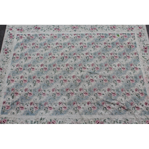13 - Indian Numdah carpet worked with an all-over stylised floral design, 103in x 139in