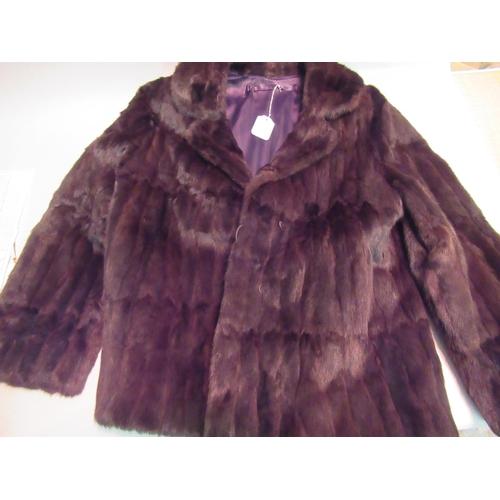 14 - Ladies mid 20th Century half length dark brown mink jacket labelled Karter, together with a similar ...