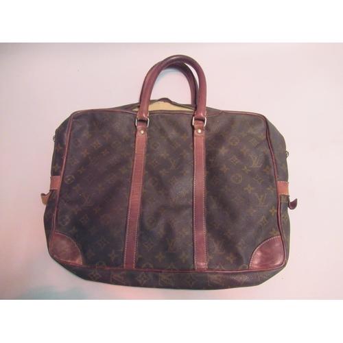 28 - Louis Vuitton Monogram briefcase (worn)
